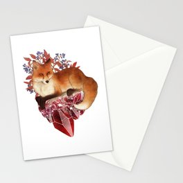 Red Fox and Ruby Stationery Cards