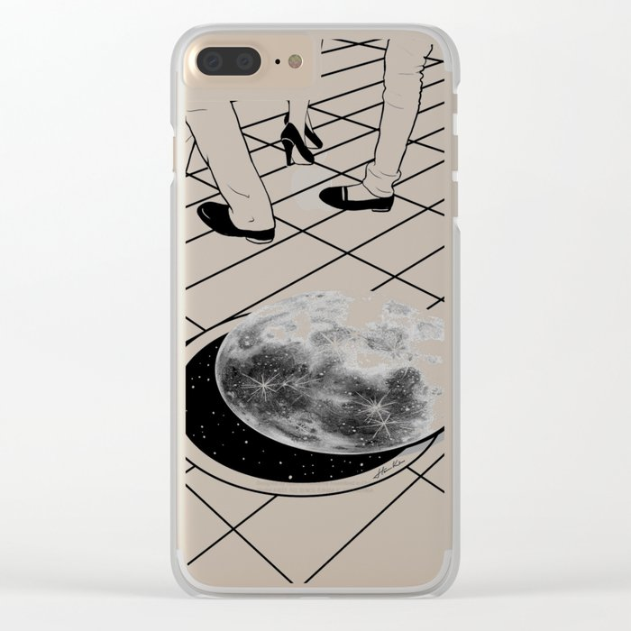 Moonhole Clear iPhone Case