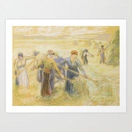 Camille Pissarro 1830 - 1903 HAYMAKING Art Print