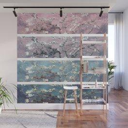 Vincent Van Gogh : Almond Blossoms Panel arT Pastel Pink Blue Teal Wall Mural