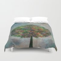 autumn Duvet Covers featuring Autumn by Klara Acel