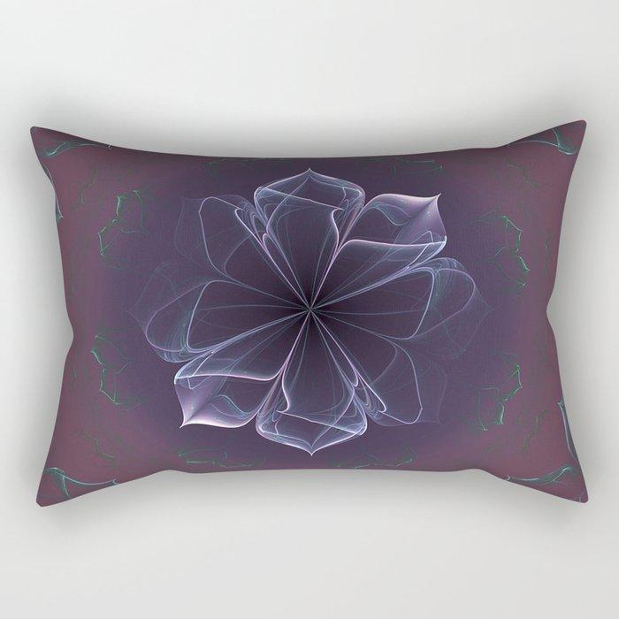 Amethyst Ornate Blossom in Soft Pink Rectangular Pillow