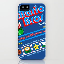 Super Mario Bros Plumbing iPhone Case