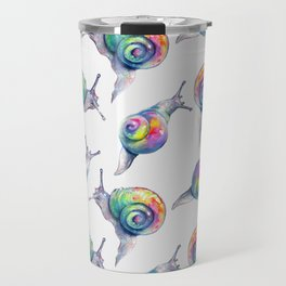 Rainbow Crystal Clear Snails Travel Mug