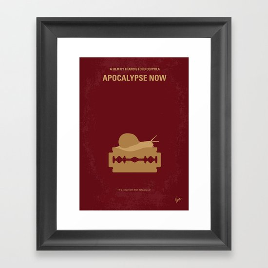 No006 My Apocalypse Now minimal movie poster Framed Art Print