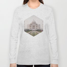 Taj Mahal - Geometric Photography Long Sleeve T-shirt