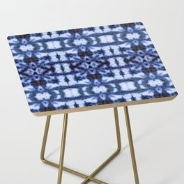 Blue Oxford Shibori Side Table
