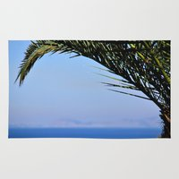 palm tree Area & Throw Rugs featuring Palm Tree by M. Gold Photography