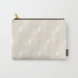 Elegant Geometric Gold Pattern Illustration Carry-All Pouch
