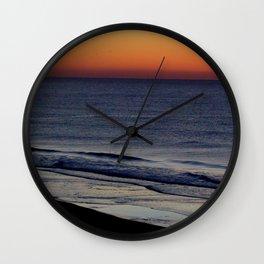 Orange Sherbet Sunset Wall Clock