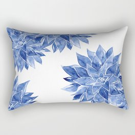 Succulent Watercolor Painting Rectangular Pillow