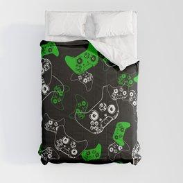 Video Game Black & Green Comforters