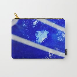 Tree reflection in blue glass Carry-All Pouch