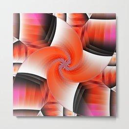 Windmill orange Metal Print