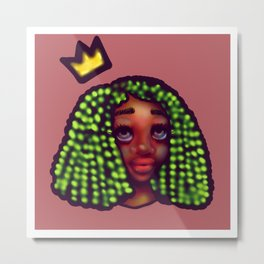 Black Femme Magic Metal Print