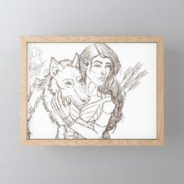 Wolf Protector Framed Mini Art Print