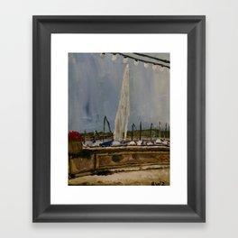 Jet d'Eau Framed Art Print