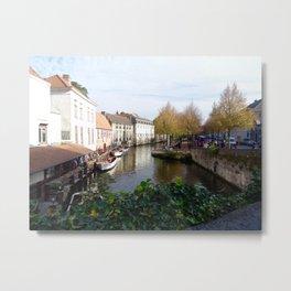 Bruges Metal Print