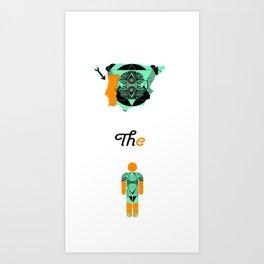 Orange and Teal Shapes Art Print
