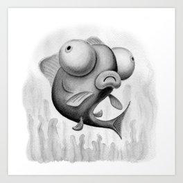 Silly Fish Art Print