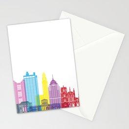 Columbus skyline pop Stationery Cards