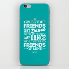 One Hit Wonder- Safety Dance in Teal iPhone & iPod Skin