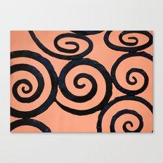 Iron Spirals in Pumpkin Canvas Print