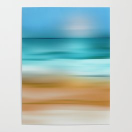Abstract Seascape 2 Poster