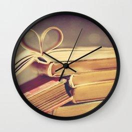 Vintage Book Love Wall Clock