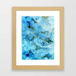 Aqua Blue Geode Crystal Framed Art Print