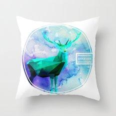 LOW-POLY DEER Throw Pillow