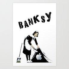 Banksy Sweeping Under The Rug Art Print