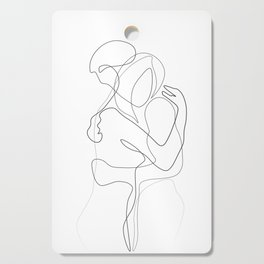 Lovers - Minimal Line Drawing Cutting Board