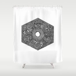 Souls of Lost Faces Shower Curtain