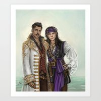 pirates Art Prints featuring Pirates by Slugette