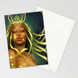 Golden godess Stationery Cards