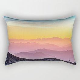 sky blue yellow orange purple Rectangular Pillow