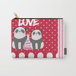 Polka Dot Panda Love Carry-All Pouch