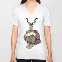 john V-neck T-shirts featuring John by Emily Shaw