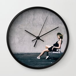 top model with hat Wall Clock