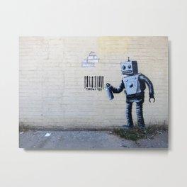 Banksy, Robot Metal Print