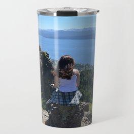 Girl in the mountain in Bariloche Travel Mug