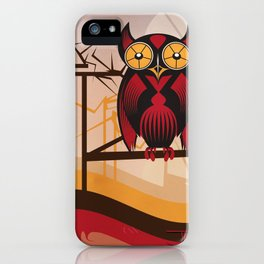 Red Owl at Dusk iPhone Case