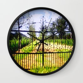 Wrought Iron Vintage Farm Gate Wall Clock