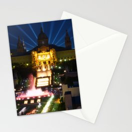 Barcelona at Night Stationery Cards
