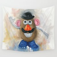 potato Wall Tapestries featuring Mr Potato Head Lego by Toys 'R' Art