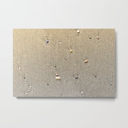 Stones on the Sand Metal Print