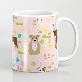 Pitbull easter dog breed pet patter rescue dog pibble lovers spring easter eggs Coffee Mug