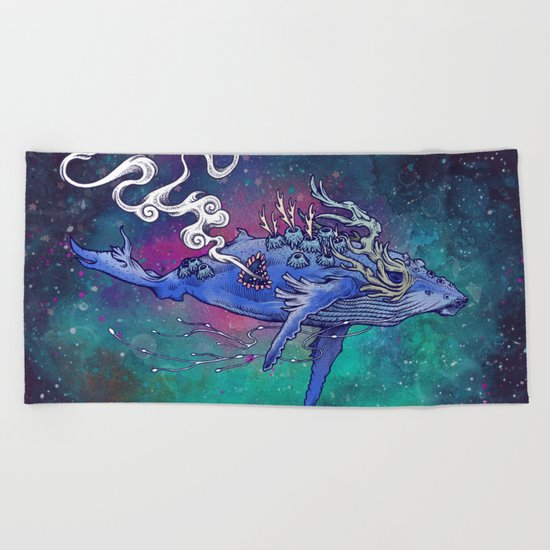 The Last Whale Beach Towel