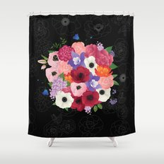 floral topiary Shower Curtain